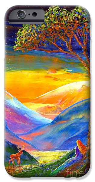 Pine Paintings iPhone Cases - Soul Contact iPhone Case by Jane Small