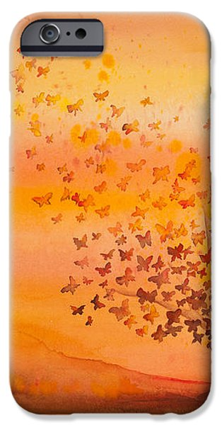 Soul Freedom Watercolor Painting iPhone Case by Michelle Wiarda