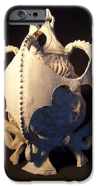 Fantasy Ceramics iPhone Cases - Soul Guardians angled view iPhone Case by Steve Spagnola