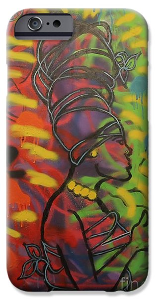 Jay Z Paintings iPhone Cases - Soul-itude Princess iPhone Case by Chris Carter