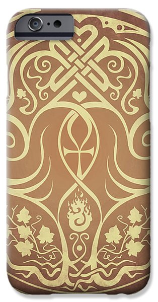Soul Mates - Gold iPhone Case by Cristina McAllister
