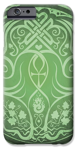 Soul Mates - Green iPhone Case by Cristina McAllister