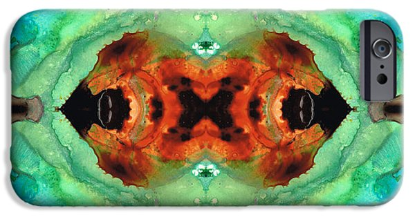 Modern Abstract iPhone Cases - Soul Symphony - Abstract Art by Sharon Cummings iPhone Case by Sharon Cummings