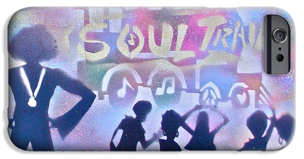 Conscious Paintings iPhone Cases - Soul Train 1 iPhone Case by Tony B Conscious