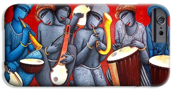 Bonding Paintings iPhone Cases - Sound 21 iPhone Case by Samir  Sarkar