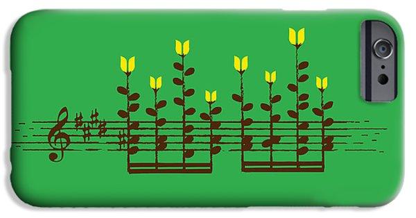 Piano Digital Art iPhone Cases - Sound Garden iPhone Case by Budi Satria Kwan