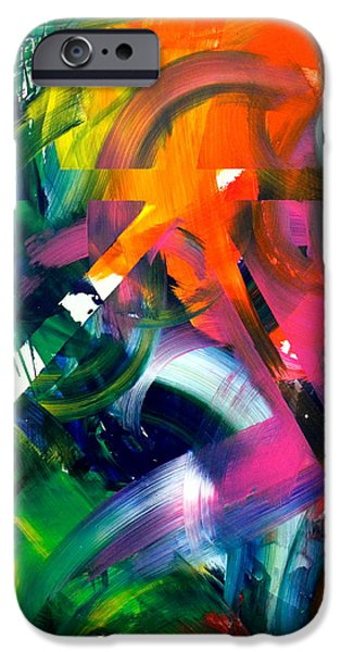 Abstract Expression iPhone Cases - Sound Garden iPhone Case by Richard Day