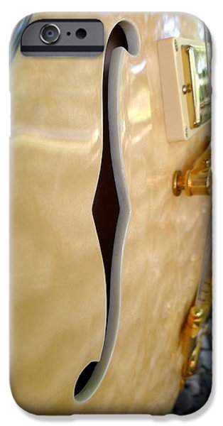 Gitarre iPhone Cases - Sound Hole iPhone Case by Richard Reeve