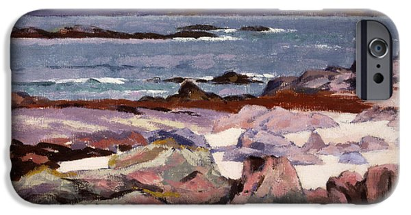 Posters From iPhone Cases - Sound of Iona  the Burg from the north shore iPhone Case by Francis Campbell Boileau Cadell