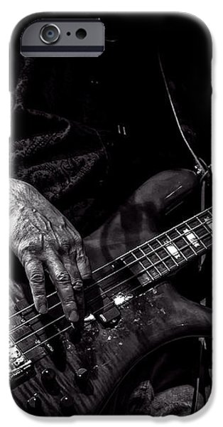 Sounds In The Night Bass Man iPhone Case by Bob Orsillo
