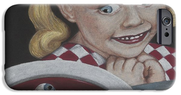 Creepy Pastels iPhone Cases - Soup iPhone Case by Paulie Polka
