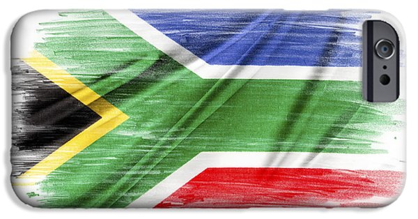Flag iPhone Cases - South Africa iPhone Case by Les Cunliffe