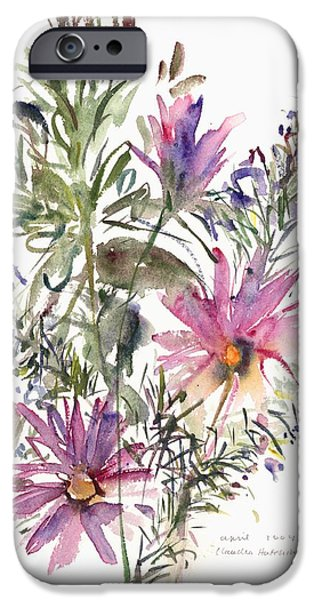 Recently Sold -  - Flora iPhone Cases - South African daisies and lavander iPhone Case by Claudia Hutchins-Puechavy