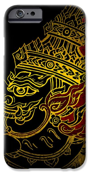 Corporate Art iPhone Cases - South Asian Art Motives iPhone Case by Corporate Art Task Force