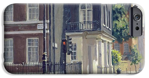 Corner iPhone Cases - South Audley Street Oil On Canvas iPhone Case by Julian Barrow