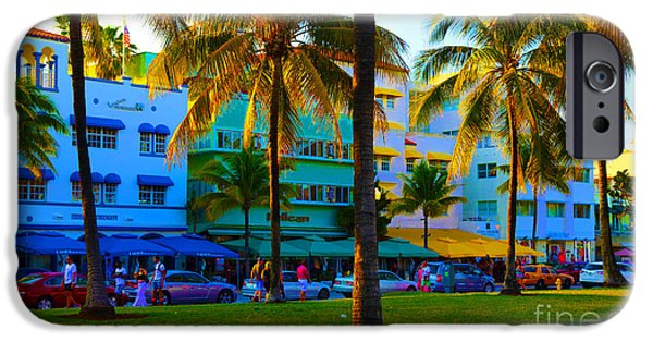 Florida Pyrography iPhone Cases - south Beach Afternoon iPhone Case by Dan Hilsenrath