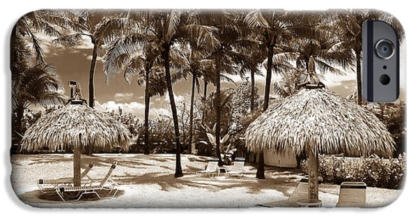 Monotone iPhone Cases - South Beach Life iPhone Case by John Rizzuto
