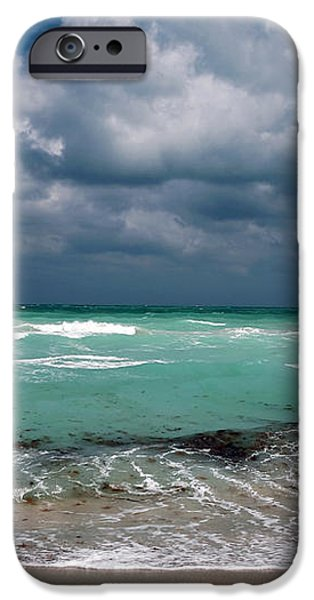 South Beach Storm Clouds iPhone Case by John Rizzuto