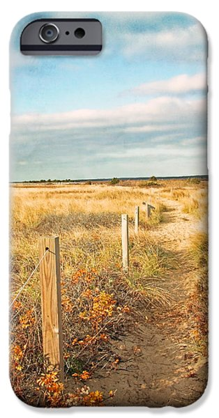 Mashpee iPhone Cases - South Cape Beach Trail iPhone Case by Brooke Ryan