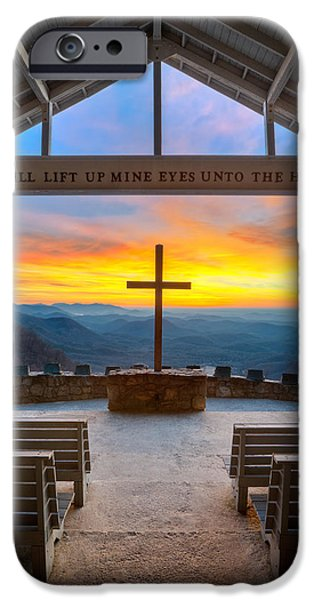 Scenery iPhone Cases - South Carolina Pretty Place Chapel Sunrise Embraced iPhone Case by Dave Allen