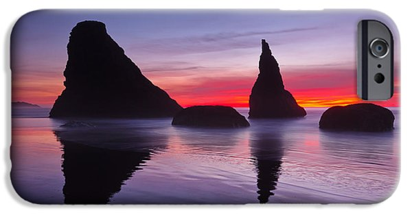 Ocean Sunset iPhone Cases - South Coast Reds iPhone Case by Darren  White