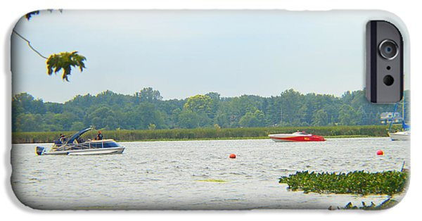Fed iPhone Cases - South Cove Lake Wawasee iPhone Case by Tina M Wenger