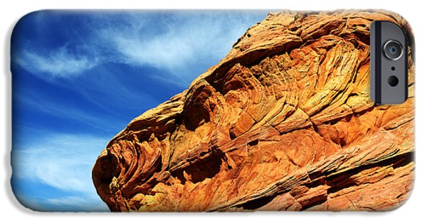 Canadian Photographer iPhone Cases - South Coyote Buttes 6 iPhone Case by Bob Christopher