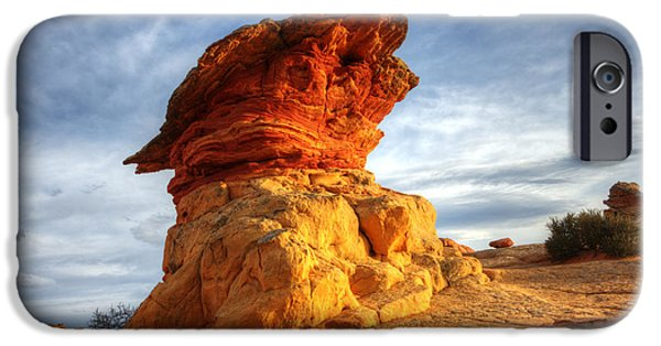 Canadian Photographer iPhone Cases - South Coyote Buttes 7 iPhone Case by Bob Christopher