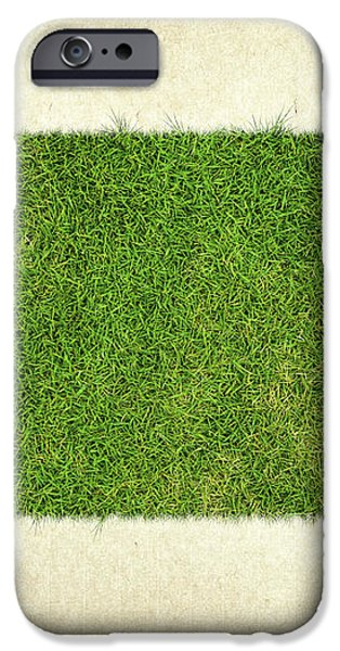 South Dakota Grass Map iPhone Case by Aged Pixel