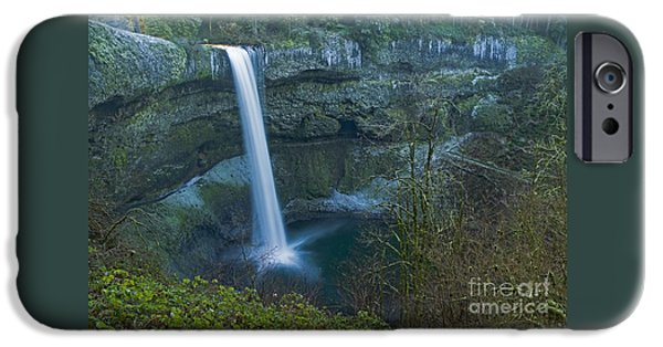 Winter Scene iPhone Cases - South Falls Winterscape iPhone Case by Nick  Boren