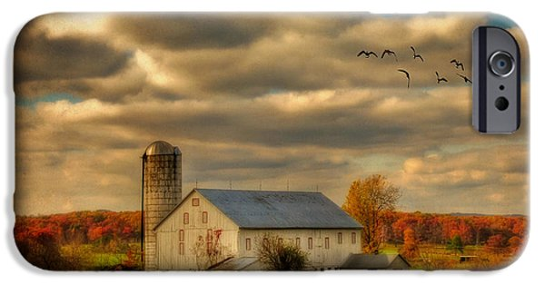 Old Barn iPhone Cases - South For The Winter iPhone Case by Lois Bryan