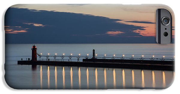 House Art iPhone Cases - South Haven Michigan Lighthouse iPhone Case by Adam Romanowicz