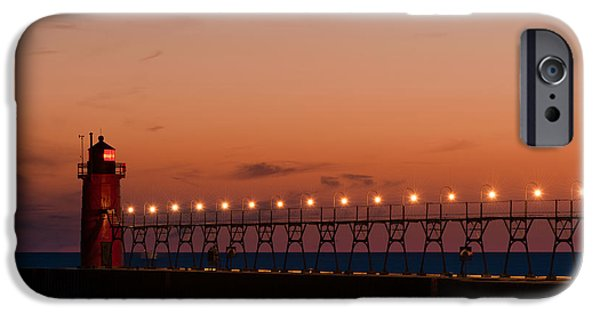 Portrait iPhone Cases - South Haven Reflection iPhone Case by Sebastian Musial