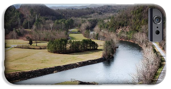 Tennessee Landmark iPhone Cases - South Holston Dam View iPhone Case by Karen Wiles