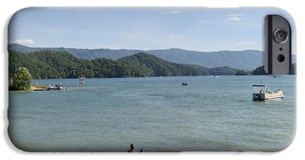 Reservoir Dogs iPhone Cases - South Holston Lake - Panorama - Tennessee iPhone Case by Brendan Reals