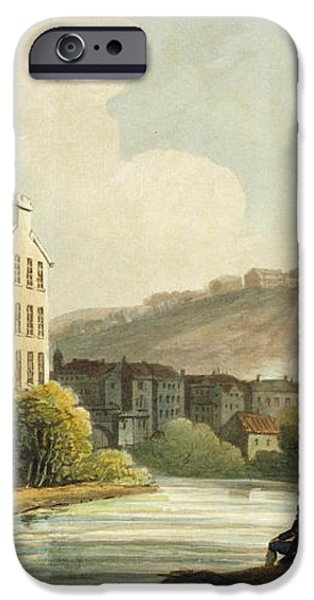 South Parade From Bath Illustrated iPhone Case by John Claude Nattes