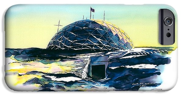 Landscape Tapestries - Textiles iPhone Cases - South Pole Dome Antarctica iPhone Case by Carolyn Doe