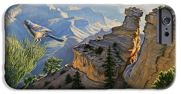 Grand Canyon iPhone Cases - South Rim Morning iPhone Case by Paul Krapf