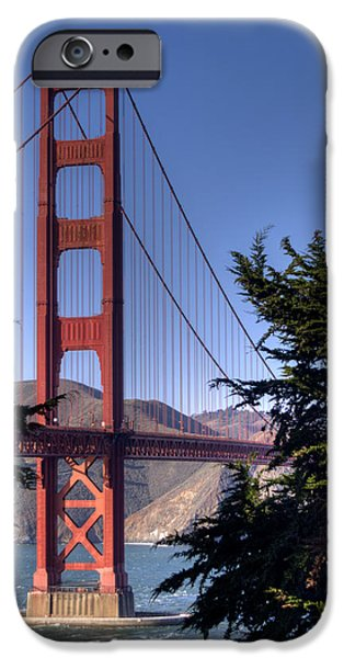 Bay Bridge iPhone Cases - South Tower iPhone Case by Bill Gallagher