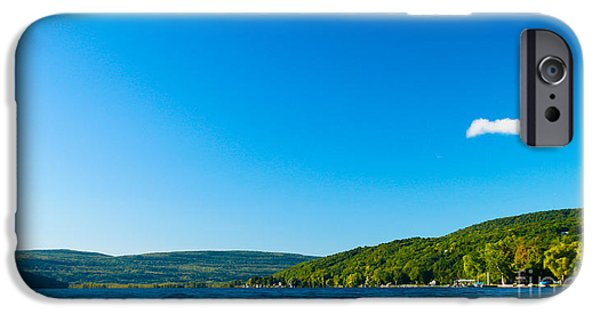 Canandaigua Lake iPhone Cases - South View of Canandaigua Lake iPhone Case by Steve Clough
