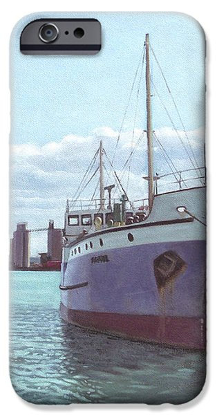 Southampton docks SS Shieldhall ship iPhone Case by Martin Davey
