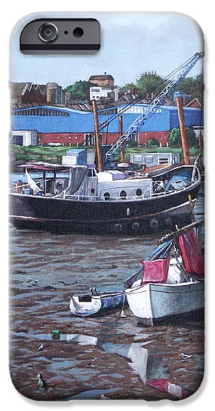 Southampton Northam boats iPhone Case by Martin Davey