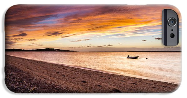 York Beach iPhone Cases - Southampton Shores Sunset iPhone Case by Ryan Moore