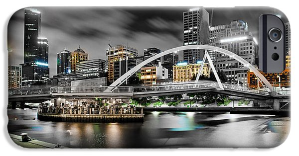 Business iPhone Cases - Southbank Footbridge iPhone Case by Az Jackson