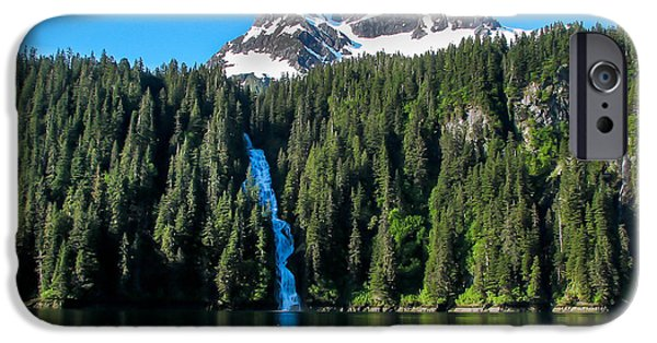 Tongass iPhone Cases - Southeast Alaska Waterfall iPhone Case by Robert Bales