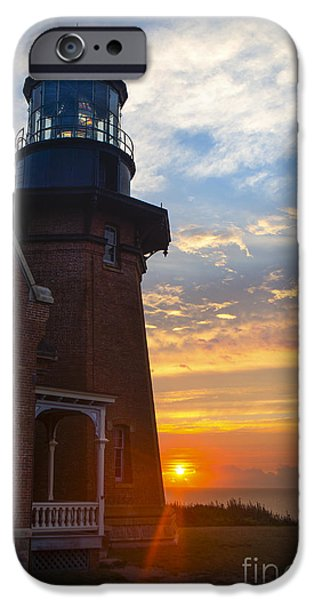 Lighthouse iPhone Cases - Southeast Lighthouse Block Island  iPhone Case by Diane Diederich