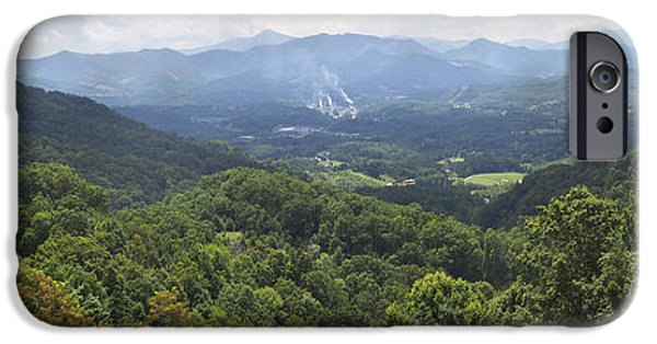 Blue Ridge Parkway iPhone Cases - Southern Appalachian Mountains - Panoramic iPhone Case by Mike McGlothlen