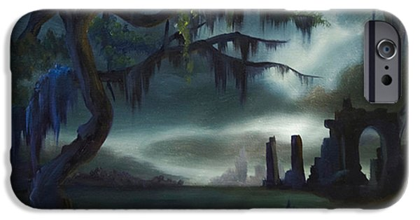 Moonscape iPhone Cases - Southern Arch iPhone Case by James Christopher Hill