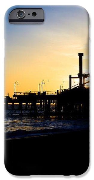 Southern California Santa Monica Pier Sunset iPhone Case by Paul Velgos
