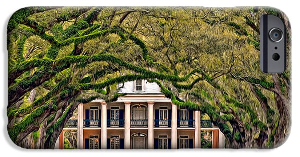 Oak Alley Plantation iPhone Cases - Southern Class Oil iPhone Case by Steve Harrington